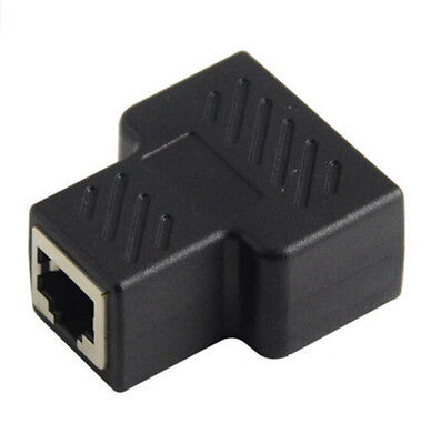Network Splitter  RJ45 Adapter Connector Plug 1 to 2 ethernet Cable LAN Extender