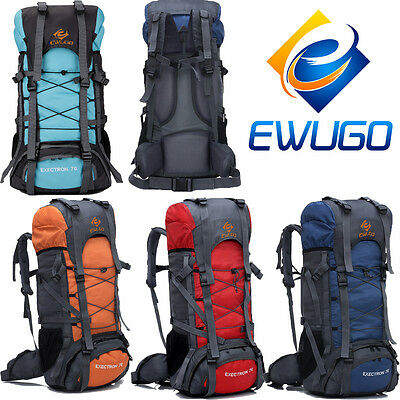 Extra 70L Hiking Camping Luggage Rucksack Backpack Military Tactical Travel Bag
