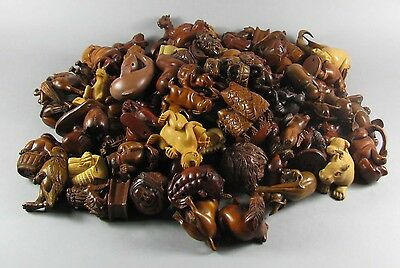 20 pieces different style boxwood carved vivid Japanese netsukes