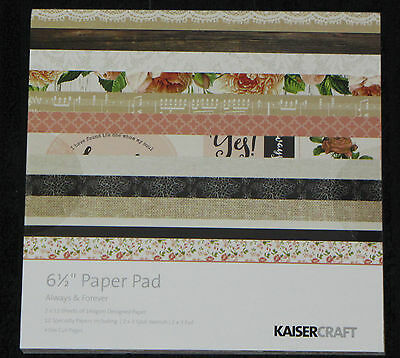 "Kaisercraft 'ALWAYS & FOREVER' 6.5"" Paper Pad Love/Romance/Floral *NEW* KAISER"