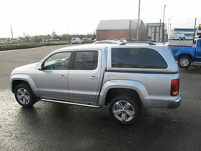 VW Amarok 2010-2016 Double Cab P-Series Hardtop - Truck Top Cover - in SILVER 8E