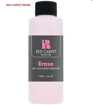 Gel Nail Polish Remover Red Carpet Manicure Gel Erase Large Bottle 120 ml New