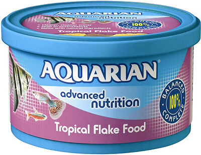 Aquarian Tropical Fish Flake Food Complete Fish Food 50g