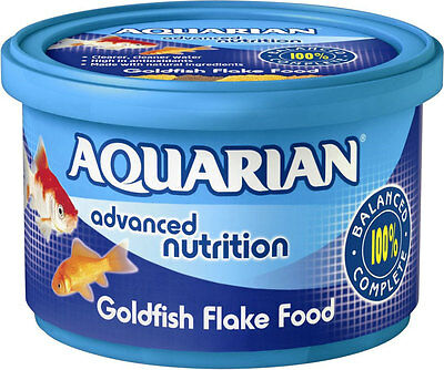 Aquarian Goldfish Fresh Water Fish Flake Food Complete Fish Food 200g