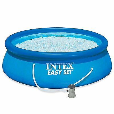 "INTEX 13ft by 33"" Round Easy Set Swimming Pool with Filter Pump  #28142"