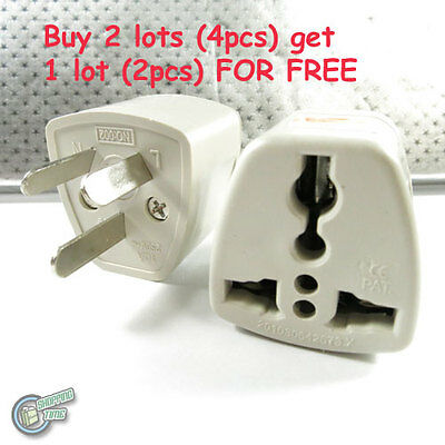2x Singapore Universal to Australia AC Power Plug Adaptor Travel 3 pin Converter