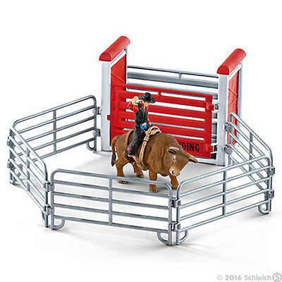 Schleich Bull Riding with Cowboy Set