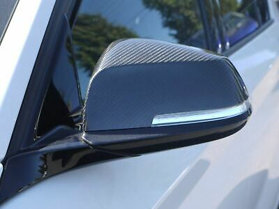 Carbon Fibre 2pc Wing Door Mirror Cover Protectors for BMW 3 Series (12+ )