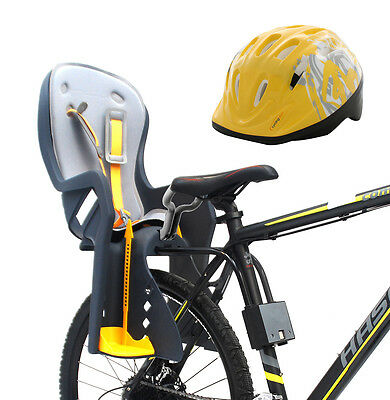 Bike Baby Rear Seat with Handrail and Helmet
