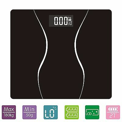 Digital Bathroom Weight Body Scale with Smart Step-on Technology, Backlit 180KG