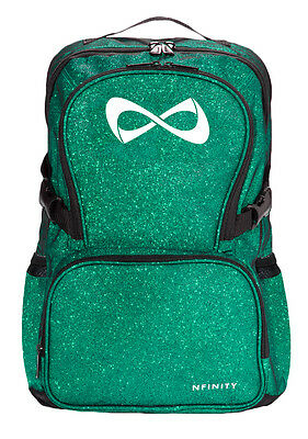 Nfinity Sparkle Green Backpack Cheer Bag