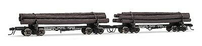 Rivarossi Northern Pacific #123004 & #123169 HO Scale Log Car - 2 Pack HR6312
