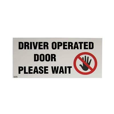 DRIVER OPERATED DOOR.... Eurocab/Mercedes Vito Taxi Window Sticker