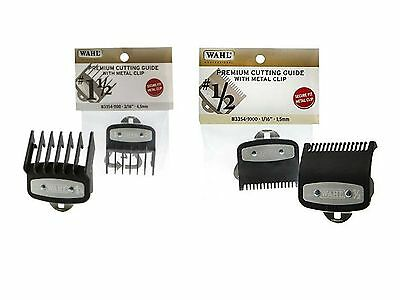 "Wahl Premium Cutting Guide With Metal Clip #1.1/2"" & #1/2"" for Barber Clippers"