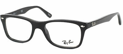 Ray Ban Eyeglasses RX5228 2000 Shiny Black Plastic Frame 53mm
