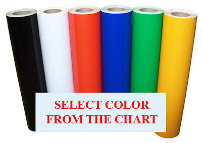 """24""""x15ft Semi Gloss Sign Vinyl 6yr outdoor for making signs, decals; for cutter"""
