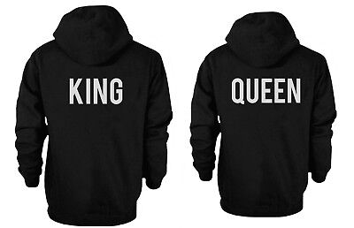 Cute Matching Couple Hoodies - King and Queen Hooded Sweatshirts