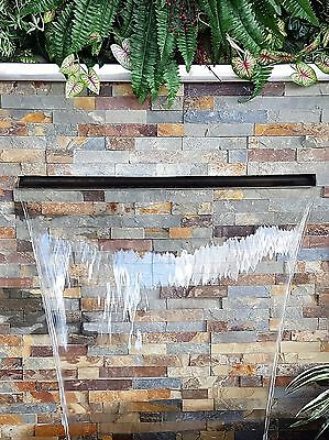 WATER FEATURE -STAINLESS 1225mm PROJECTING 316 SPILLWAY option to add LED Lights