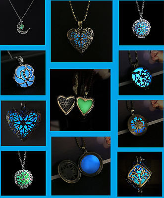 Glow in the Dark Necklace Fairy Locket Pendant Fantasy Magical Steampunk Magic