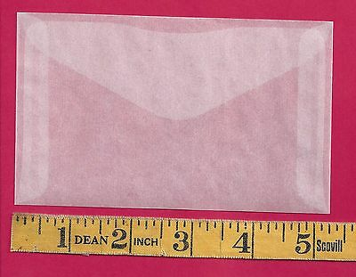 100 NEW JBM #4-1/2 Glassine Envelopes 3-1/8 x 5-1/16