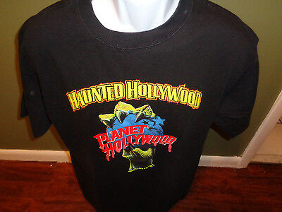 Planet Hollywood Haunted Hollywood Halloween 1997 Black T-shirt Size ADULT LARGE