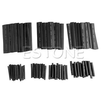 127Pcs 2:1 PE Polyolefin Heat Shrink Wire Wrap Sleeve Car Electrical Cable Tubes