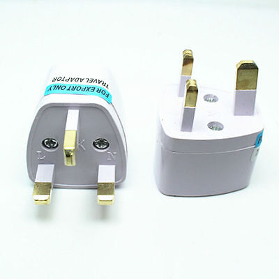 2X Euro EU US USA AU to UK Travel Power Charger Adapter Plug Outlet Converter