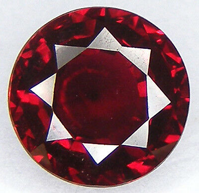 3.18Ct. Excellent Cut Round 9 Mm. Pigeon Blood Red Ruby Lab Corundum