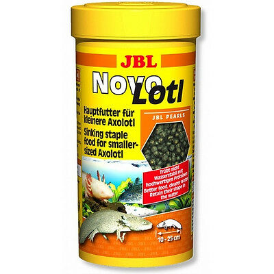 JBL Novo Lotl ** Pellet food for growing Axolotl  ** Premium food 250ml