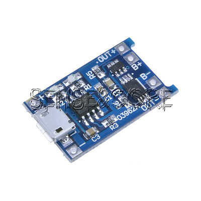 5pc 5V Micro USB 1A 18650 Lithium Battery Charger Board Module TP4056 TE420