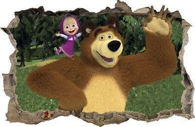 Home Décor Home & Garden Masha And The Bear Wall Sticker Removable Vinyl Decal Nursery Decor Art Mural