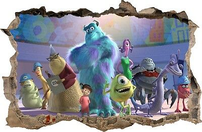Monsters Inc Wall Stickers 31 Decals Disney Pixar Sulley Boo Mike