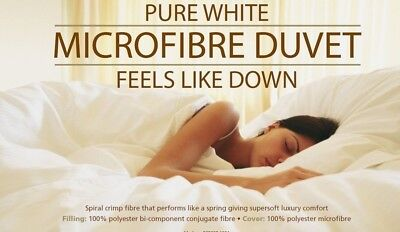 4.5 Tog Microfibre Pure Luxury Duvet - Ideal For The Spring/Summer Season