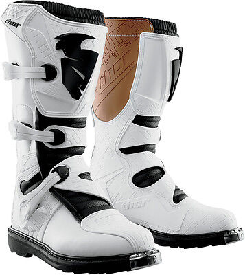 Thor Blitz Boots White Mx Motocross Enduro Quad Atv Off Road Cheap New All Sizes