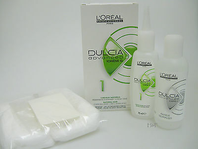 L'OREAL DULCIA ADVANCED Hair Type 1 Normal FREE PERM KIT Papers Cap Neck Wool
