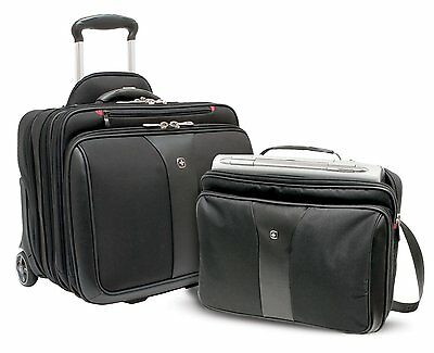 """Wenger Patriot 17"""" 2 Piece Business Wheeled Laptop Bag/Briefcase - BRAND NEW"""
