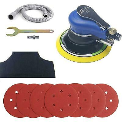 "212525 Air Random Orbital Palm Sander 150mm 6"" Dual Action W Vacuum And Hose"