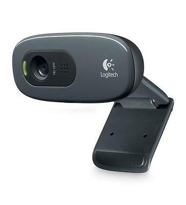 Logitech C270 720p 3MP Widescreen HD Webcam with Video Calling and Recording