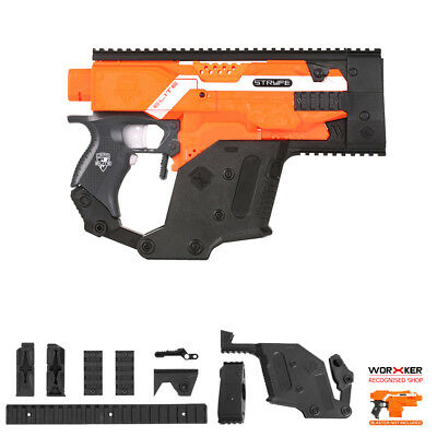 Worker MOD Kriss Vector Imitation Kit Combo A 6 Items for Nerf STRYFE Modify Toy