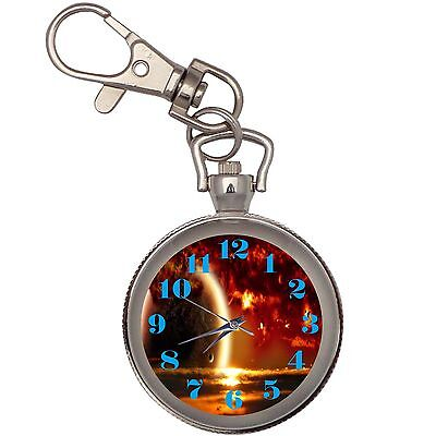 New Space In 3d Key Chain Keychain Pocket Watch