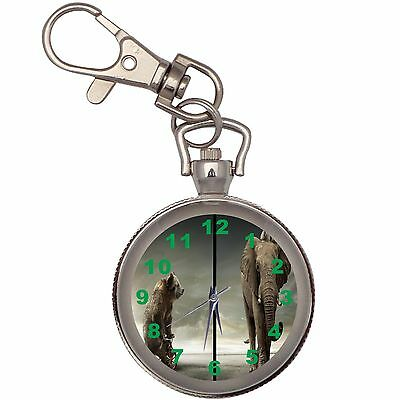 New The Elephant And The Crazy Bear Key Chain Keychain Pocket Watch