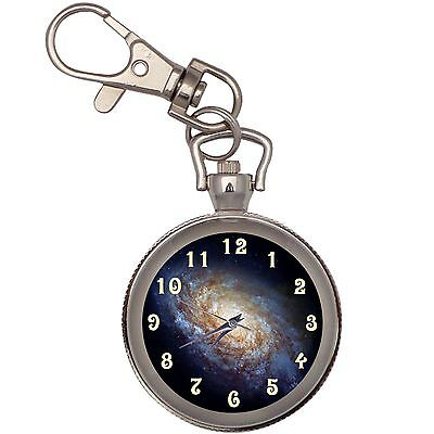 New Beauty Of Galaxy Key Chain Keychain Pocket Watch