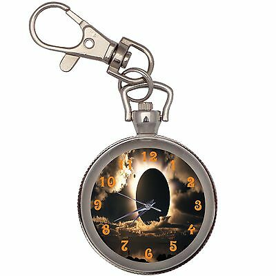 New Brown Eclipse Key Chain Keychain Pocket Watch