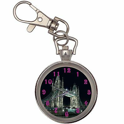 New Digital Night Key Chain Keychain Pocket Watch