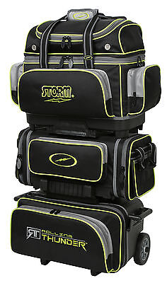 Storm Rolling Thunder 6 Ball Roller Bowling Bag Black Grey Lime