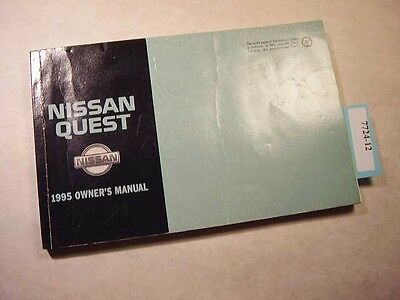1995 Nissan Quest Owners Manual in Good condition. 7724-12