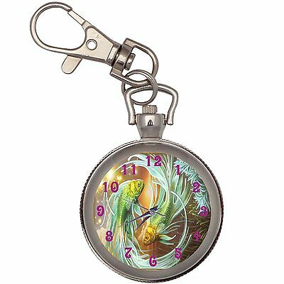 New Pisces The Fish Key Chain Keychain Pocket Watch