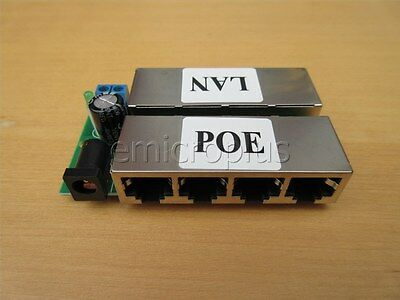 4 Ports Passive POE injector 5-48V 1A Power Supply module for AP IP Camera/phone