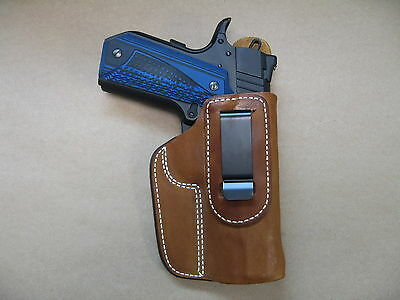 "Ruger SR 1911 4.25"" IWB Leather In Waistband Concealed Carry Holster TAN RH"