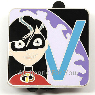 NEW Disney Pin Pixar Alphabet Letter V Violet The Incredibles LR Mystery Set